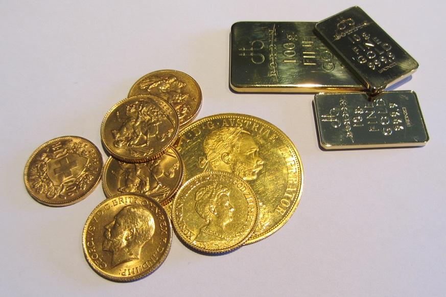 Ritiro e vendita monete d'oro e lingotti